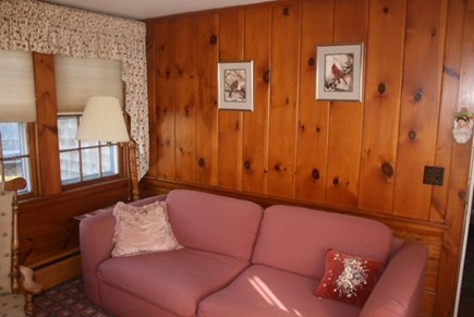 West Harwich Cape Cod vacation rental - Sunroom with a 32 inch flat screen TV & DVD player