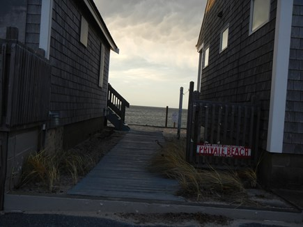 Truro Cape Cod vacation rental - Walkway to the private beach