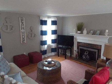 West Yarmouth Cape Cod vacation rental - Living Room with queen sofa bed