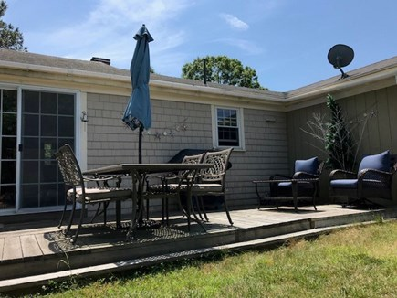 West Yarmouth Cape Cod vacation rental - Fenced in private back yard with enclosed outdoor shower.