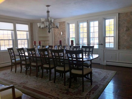 Harwich Port Cape Cod vacation rental - Dining Room leads to patio & tennis court