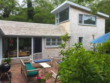 Wellfleet Cape Cod vacation rental - The 'flying bedroom' showing the new construction.