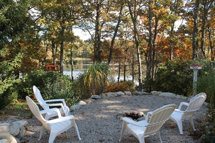 Orleans Cape Cod vacation rental - View from fire pit to pond