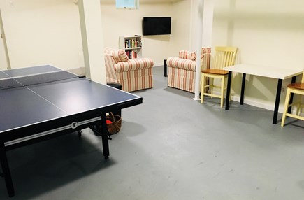 Eastham Cape Cod vacation rental - Game room in finished basementPing Pong, Air & Bubble hockey
