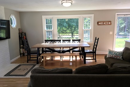 Eastham Cape Cod vacation rental - Comfortable couch. Dining Table seats 10.