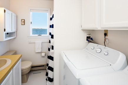 Barnstable Cape Cod vacation rental - Full bath in combo with the laundry, main level.