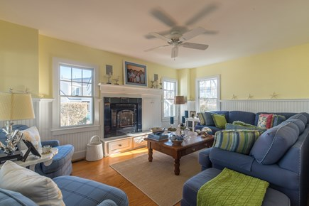 Dennis, Mayflower Beach Cape Cod vacation rental - Large Den with gas fireplace