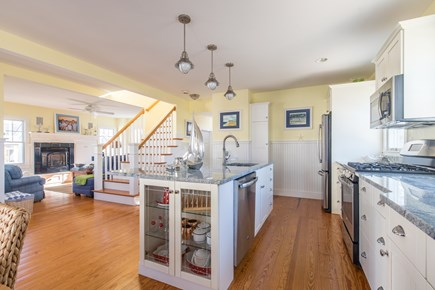 Dennis, Mayflower Beach Cape Cod vacation rental - Kitchen & Den