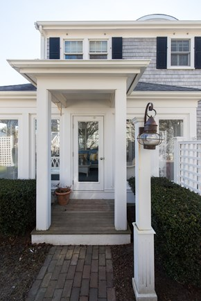 Dennis, Mayflower Beach Cape Cod vacation rental - Front door into beautiful screened in porch