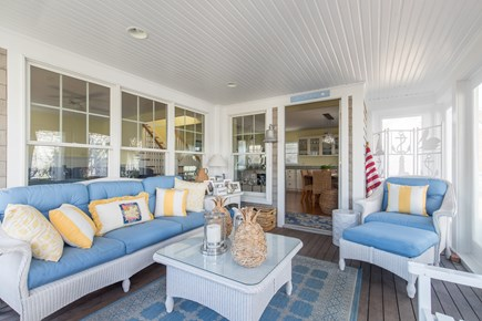 Dennis, Mayflower Beach Cape Cod vacation rental - Bright & Sunny screened in porch