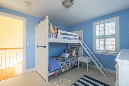Dennis, Mayflower Beach Cape Cod vacation rental - Bedroom #2-Twin over double bunk bed