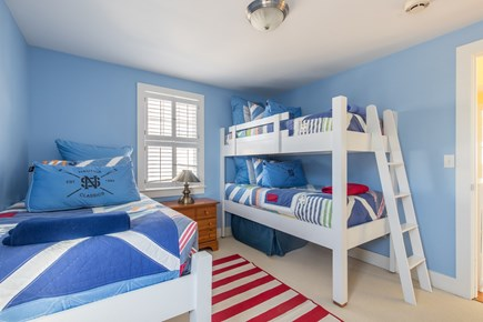 Dennis, Mayflower Beach Cape Cod vacation rental - Bedroom #3-Twin over twin bunk bed & single twin