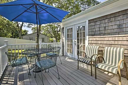 Barnstable, Hyannis Cape Cod vacation rental - Back Deck