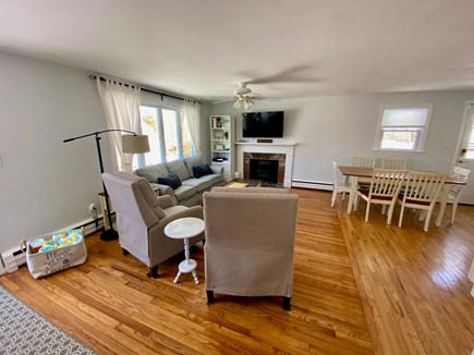 Barnstable, Hyannis Cape Cod vacation rental - Living room and dining area