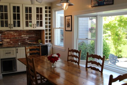 South Orleans on Pleasant Bay Cape Cod vacation rental - Dining Area in Main House Kitchen
