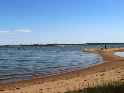 South Orleans on Pleasant Bay Cape Cod vacation rental - Private Association Beach Just Down the Hill from the Back Deck