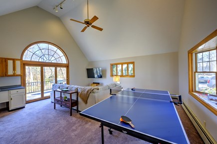 Bourne, Sagamore Beach Cape Cod vacation rental - Another view of Family room with pool table