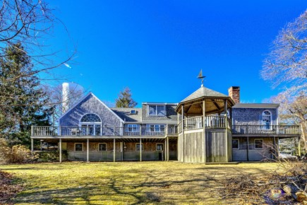 Bourne, Sagamore Beach Cape Cod vacation rental - Back of house with decks