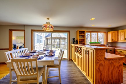 Bourne, Sagamore Beach Cape Cod vacation rental - Kitchen with table/chairs