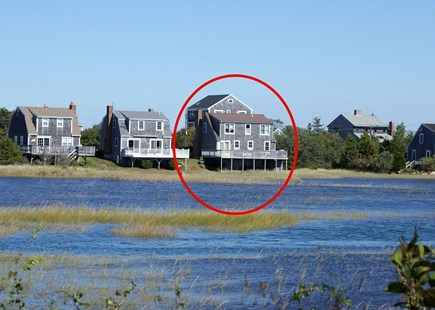 East Sandwich Cape Cod vacation rental - View of house from the marshside