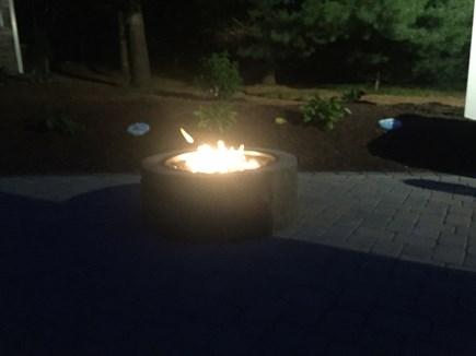 Chatham Cape Cod vacation rental - Outdoor Gas Fireplace at Night