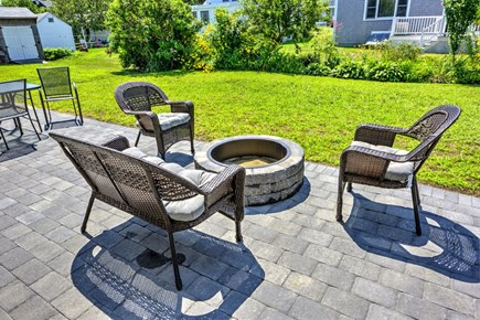 Sandwich, Town Neck Cape Cod vacation rental - Seating around the fire pit