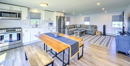 Sandwich, Town Neck Cape Cod vacation rental - Open Kitchen/Dining/Living area on upper level