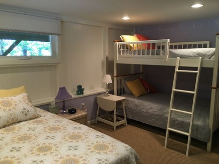Eastham Cape Cod vacation rental - Bedroom on first floor with comfortable queen and bunk beds.