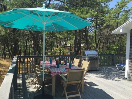 Eastham Cape Cod vacation rental - Front of wrap-around deck