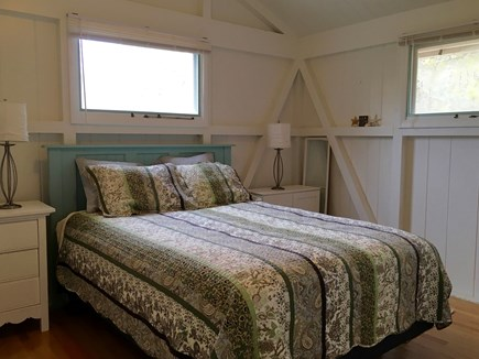 Eastham Cape Cod vacation rental - Master bedroom on 2nd floor with 1/2 bath (off the living room)