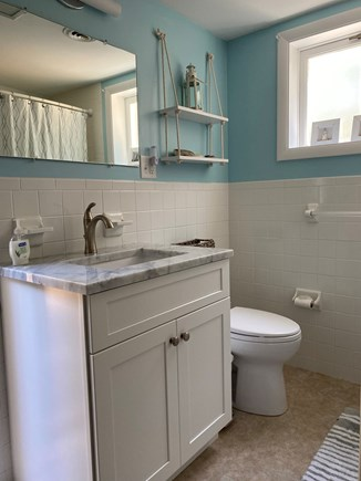 Eastham Cape Cod vacation rental - First floor full bath with access to outdoor shower.