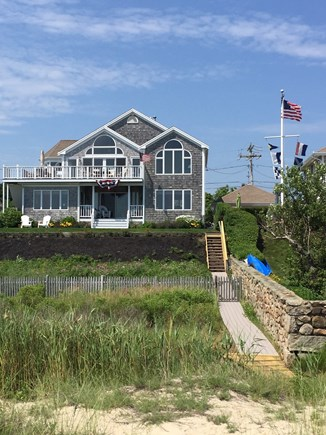 West Yarmouth Cape Cod vacation rental - Walkway to the beach from the house