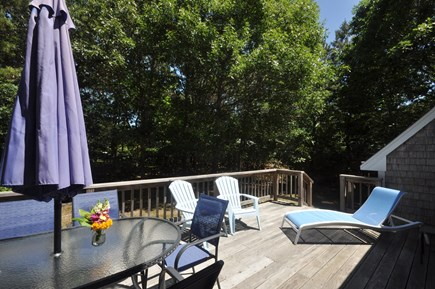 Eastham Cape Cod vacation rental - Deck of off dining area through sliders
