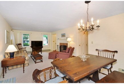 Eastham Cape Cod vacation rental - Living area facing west from kitchen (open floor plan)