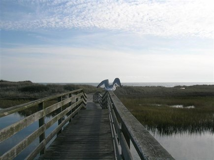 Chatham Cape Cod vacation rental - Private bridge over Buck's Creek looking out to Ridgevale Beach
