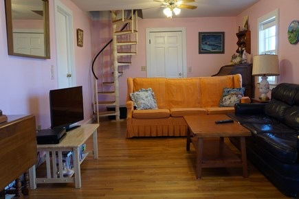 Chatham Cape Cod vacation rental - Family room with slider door to back yard