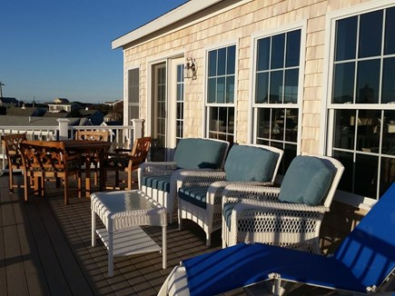 West Dennis Cape Cod vacation rental - Upper deck overlooking ocean and river