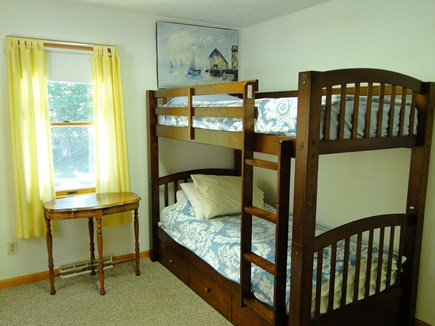 N. Falmouth-Wild Harbour Estat Cape Cod vacation rental - Bunk beds with bottom drawer pull out mattress.