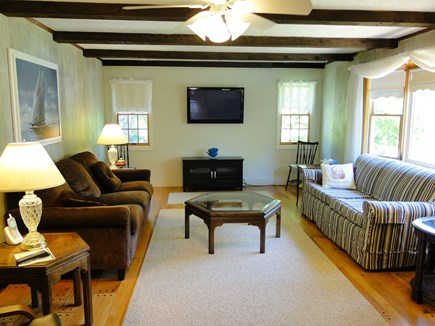 N. Falmouth-Wild Harbour Estat Cape Cod vacation rental - Large living room with flat screen TV