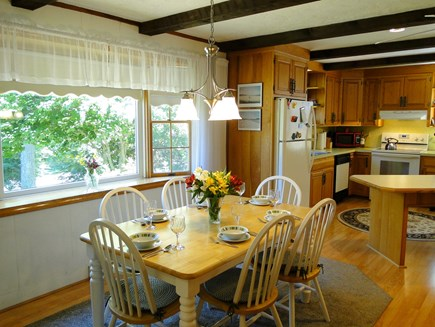 N. Falmouth-Wild Harbour Estat Cape Cod vacation rental - Lovely dining area overlooking front yard