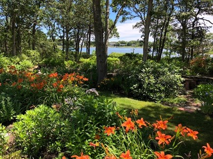 Falmouth Cape Cod vacation rental - Views over gardens to river