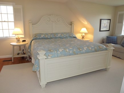 Chatham Cape Cod vacation rental - Second Floor King Master Bedroom with Full Bath