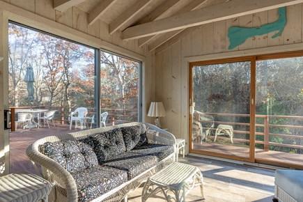 Mashpee, Popponesset Beach Cape Cod vacation rental - Perfect sunroom gathering place