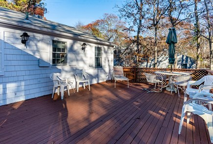 Mashpee, Popponesset Beach Cape Cod vacation rental - Large deck with private back yard