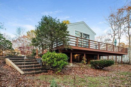 Mashpee, Popponesset Beach Cape Cod vacation rental - Patio, deck and backyard for outdoor enjoyment