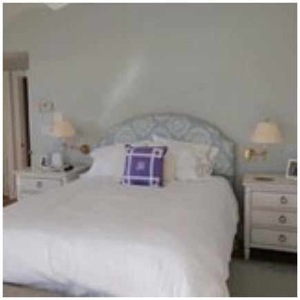 Osterville Osterville vacation rental - Master Bedroom with a balcony with view to the beach.