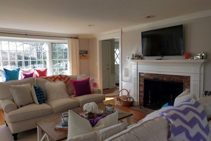 Osterville Osterville vacation rental - Family room-fireplace and cable TV.