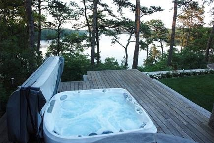 Brewster Cape Cod vacation rental - Enjoy a soak in the hot tub overlooking the pond