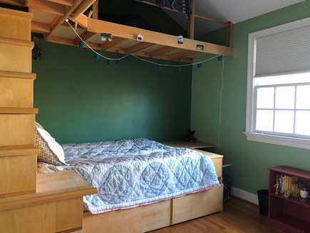 Brewster Cape Cod vacation rental - One of the second floor bedrooms with full bed, trundle and loft