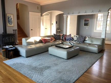 Brewster Cape Cod vacation rental - Spacious, comfy living area with wall-mounted TV